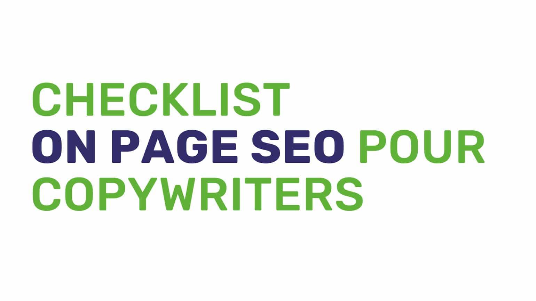Checklist on page SEO