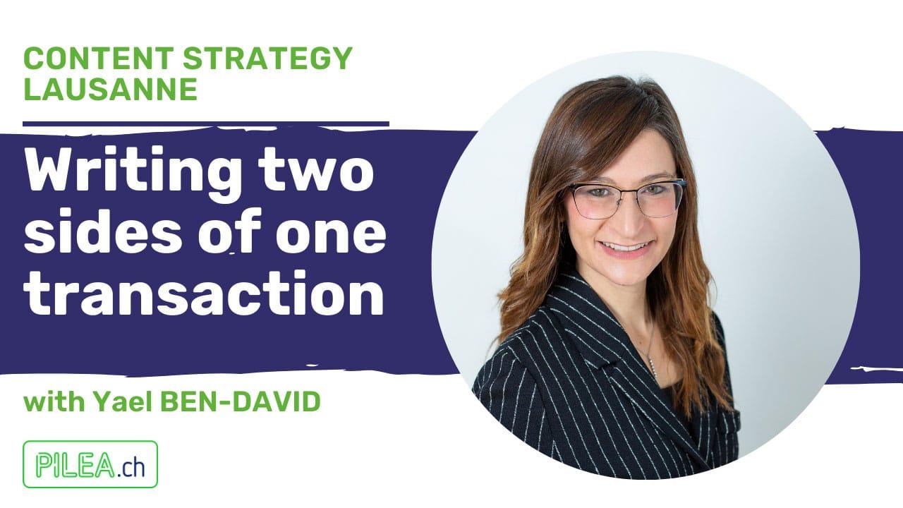 Yael Ben-David at Content Strategy Lausanne