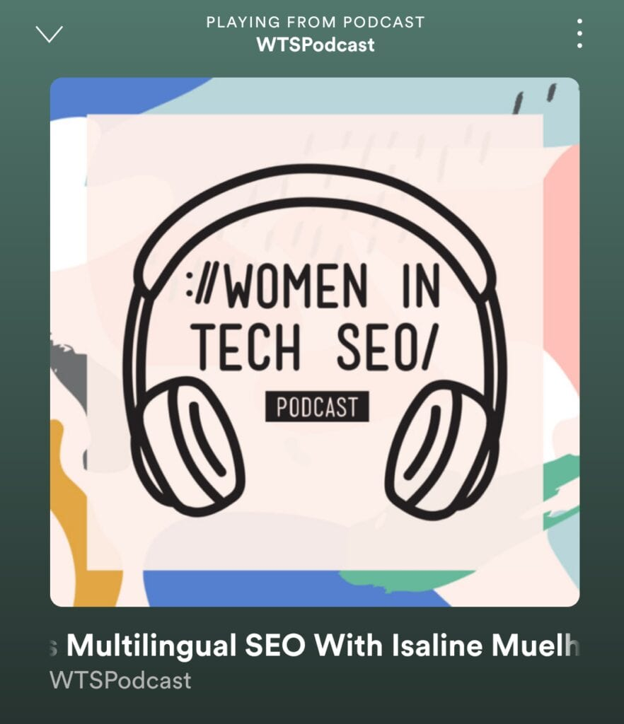 WTSPodcast with Isaline Muelhauser about Multilingual SEO